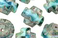 Czech Glass Beachside Picasso Crown Bead 13x15mm
