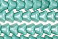 Czech Glass Luster Blue Green Bellflower 6x7mm