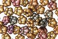 Czech Glass Autumn Metallics Bali Style Daisy Spacer 2x5mm