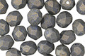 Czech Fire Polished Glass Pacifica Poppy Seed Round 6mm
