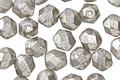 Czech Glass Crystal w/ Mercury Glass Finish Fire Polished Round 6mm