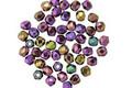 Czech Fire Polished Glass Iris Purple Round 2mm