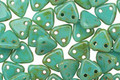CzechMates Glass Opaque Turquoise Picasso 2-Hole Triangle 6mm