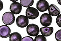 CzechMates Glass Polychrome Black Currant 2-Hole Cabochon 7mm