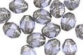 Czech Glass Tanzanite w/ Silver Lantern 7x6mm