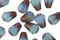 Czech Glass Bronzed Blue Opal Drop 8x6mm