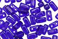 CzechMates Glass Cobalt 2-Hole Brick 3x6mm