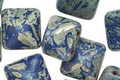 Czech Glass Earth 2-Hole Pyramid Stud Bead 12mm
