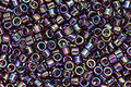 TOHO Aiko Transparent Amethyst Rainbow Precision Cylinder 11/0 Seed Bead