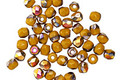 Czech Glass Mustard AB Fire Polished Round 3mm