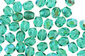 Czech Fire Polished Glass Blue/Green Emerald AB Round 3mm