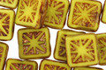 Czech Glass Sunshine Picasso Flower Window Square 10mm