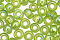 TOHO Transparent Rainbow Lime Green Round 6/0 Seed Bead