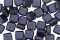 CzechMates Glass Pearl Coat Navy Blue 2-Hole Tile 6mm
