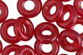 Czech Glass Cherry Ring 9mm