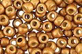 TOHO Permanent Galvanized (Matte) Old Gold Round 8/0 Seed Bead