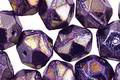 Czech Glass Iris Blue English Cut Bead 9x10mm