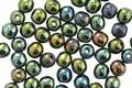 Czech Glass Iris Green Round Druk 4mm, 50 beads