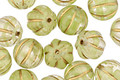 Czech Glass Margherita w/ Gold Melon Round 8mm
