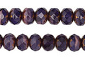 Czech Glass Bronzed Passionfruit Fire Polished Rondelle 5x7mm