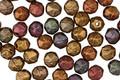 Czech Glass Matte Autumn Metallics English Cut Bead 4mm