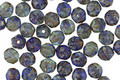 Czech Glass Earth Picasso English Cut Bead 4mm