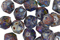 Czech Glass Earth Picasso English Cut Bead 6x8mm