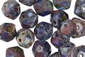 Czech Glass Earth Picasso English Cut Bead 6x8mm
