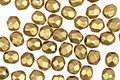 Czech Fire Polished Glass Matte Metallic Aztec Gold Round 3mm