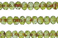 Czech Glass Peridot w/ Picasso Finish Rondelle 3x5mm