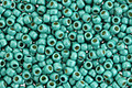 TOHO Permanent Galvanized Frosted Turquoise Round 11/0 Seed Bead
