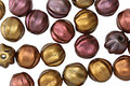 Czech Glass Autumn Metallics Melon Round 6mm