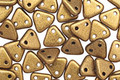 CzechMates Glass Matte Metallic Goldenrod 2-Hole Triangle 6mm