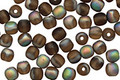 Czech Glass Matte Smoky Topaz/ Vitral AB Round 4mm