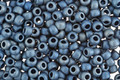 TOHO Higher Metallic Frosted Mediterranean Blue Round 8/0 Seed Bead