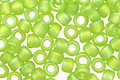 TOHO Transparent Rainbow Frosted Lime Green Round 8/0 Seed Bead