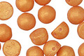 CzechMates Glass Pacifica Tangerine 2-Hole Cabochon 7mm