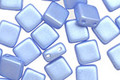 Czech Glass Light Blue Airy Pearl 2-Hole Tile 6mm