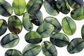 Czech Glass Calypso Green Petal 6x8mm
