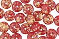 Czech Glass Barn Red w/ Gold Flecks Spacer 2x6mm