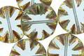 Czech Glass Beach Glass Picasso Flower Window Coin 14mm