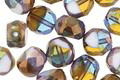Czech Glass Bronzed Sunny Coast Faceted Table Cut Oval 8x7mm