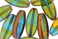 Czech Glass Bronzed Seaweed Horse Eye 18x8mm