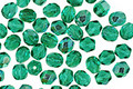 Czech Fire Polished Glass Emerald AB Round 4mm