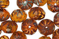Czech Glass Pumpkin Pie Cruller 6x9mm