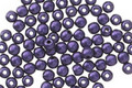 Czech Glass Purple Metallic Suede Round Druk 3mm