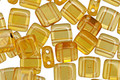 CzechMates Glass Topaz 2-Hole Tile 6mm