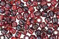 TOHO Transparent Siam Ruby Picasso Hybrid Round 6/0 Seed Bead