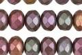 Czech Glass Autumn Metallics Fire Polished Rondelle 6x8mm