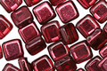 CzechMates Glass Mirror Cranberry 2-Hole Tile 6mm